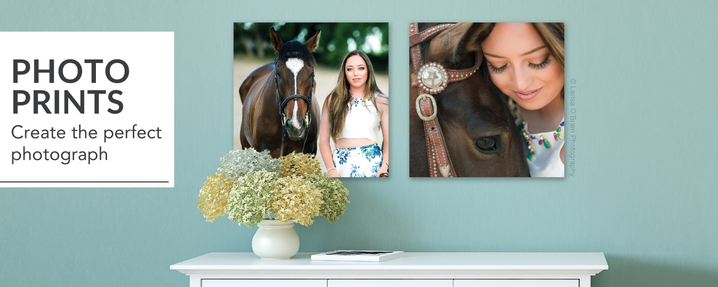 Senior Session Girl with Horse Printed on Photographic Prints