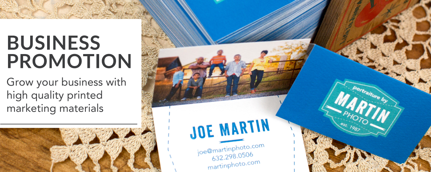 Photographer Business Card Printed on Folded Business Cards