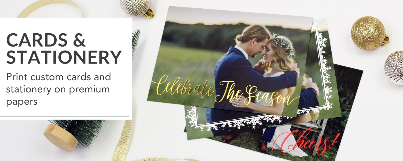 Holiday & Save The Date Greeting Cards on Table