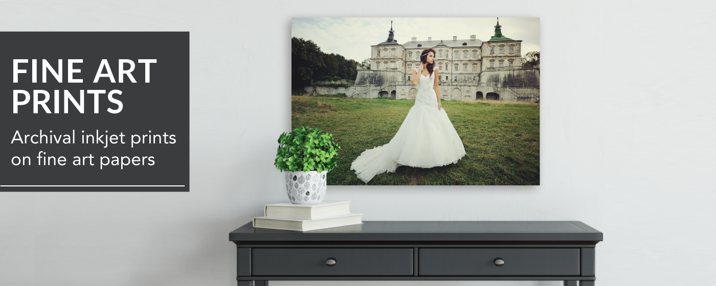 Bride in Front of Old Mansion Printed on Fine Art Print