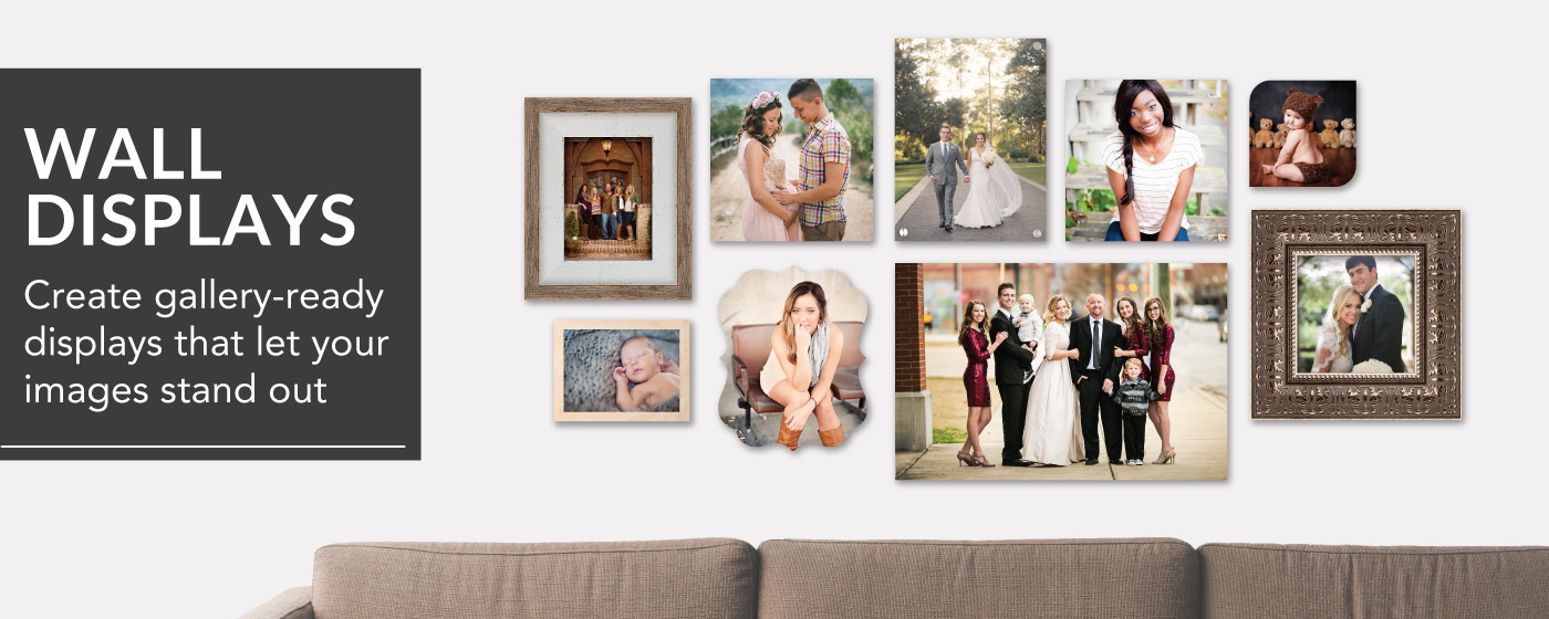 Wall Collage of Senior, Maternity, Wedding, Family & Baby Portraits
