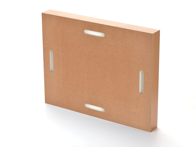 Back of standout mount showing keyhole slot option