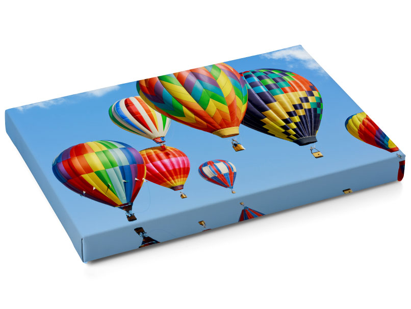 Gallery Wrap of Hot Air Balloons with Mirrored Edge