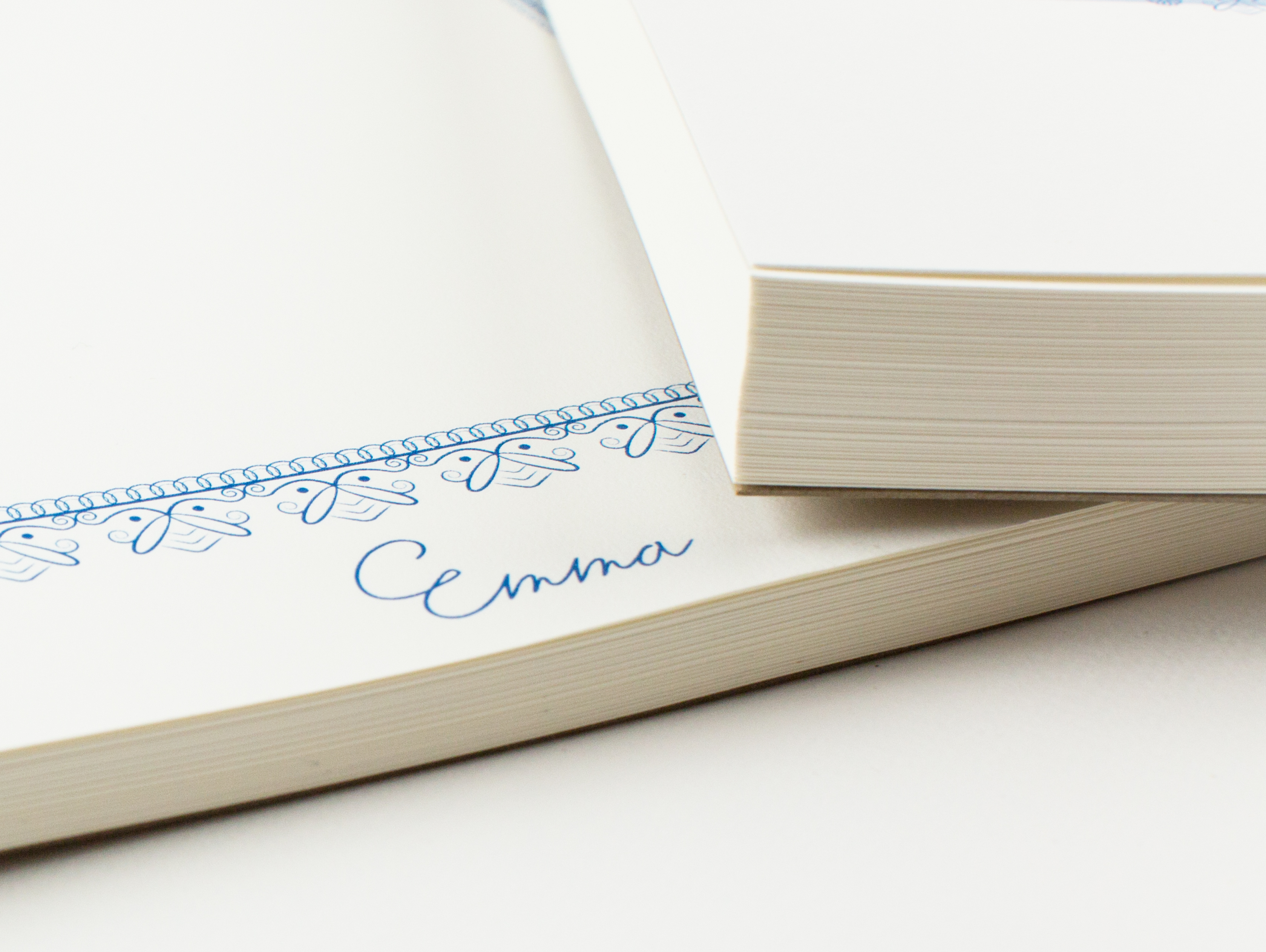 Blue Personalized Name on Notepads