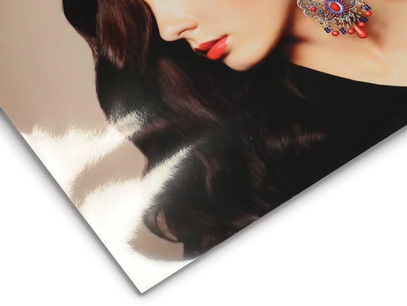 Woman with Ornate Earring Printed on Gloss Giclée Paper Type for Acrylic Block