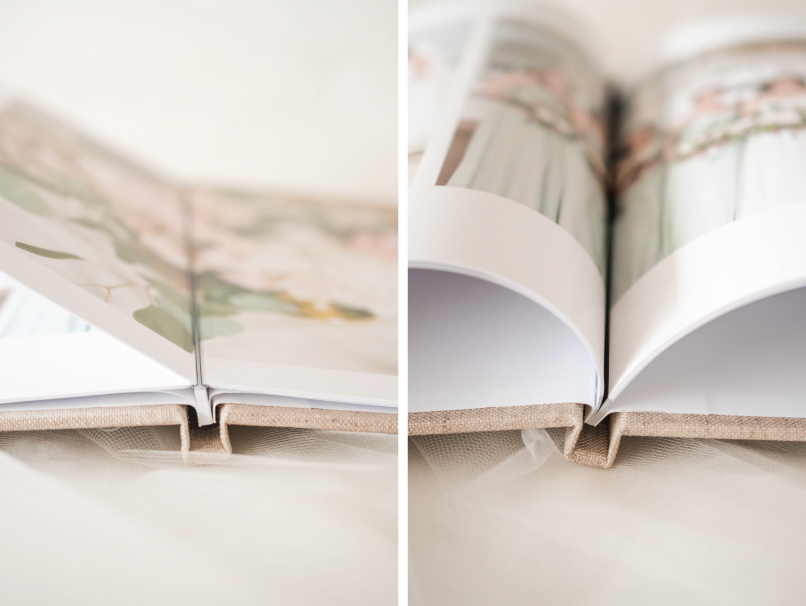 Comparison of Hinged or Non-Hinged Photo Books Pages