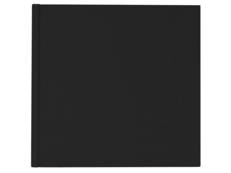 Black Vegan Leather Cover on Book