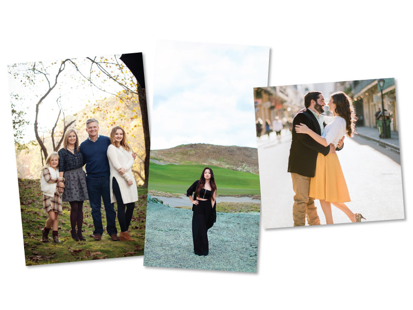 Family, Senior & Engagment Portaits Printed in Various Photographic Print Sizes