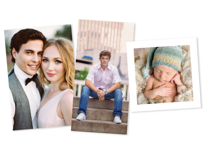 Family, Senior & Engagement Portraits Printed in Various Photographic Print Sizes