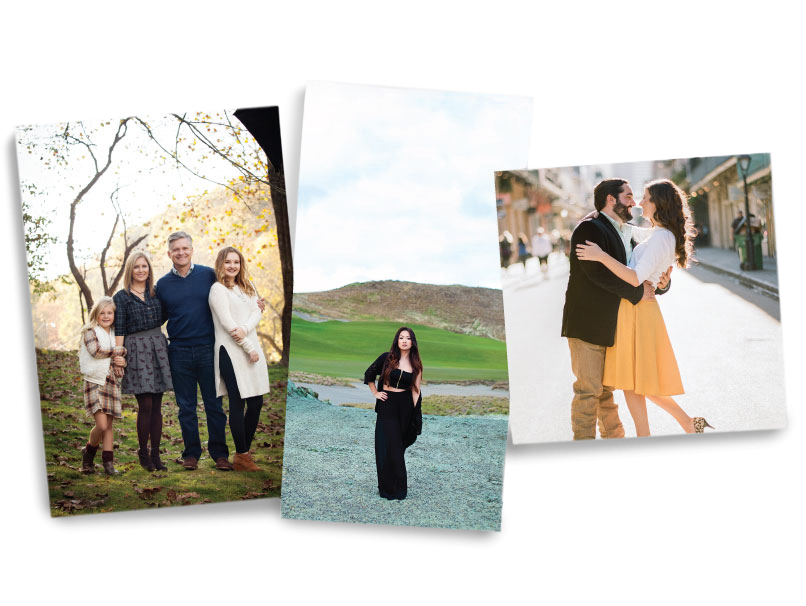 Family, Senior & Engagement Photos Printed on Different sizes of Photographic Prints