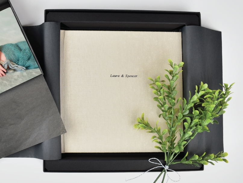 Boutique Packaging Black Box with a natural twill ribbon to Impress your Clients