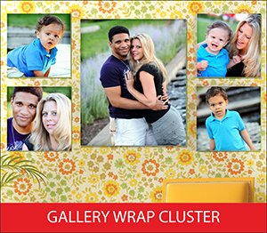 Gallery Wrap Cluster Sample Image