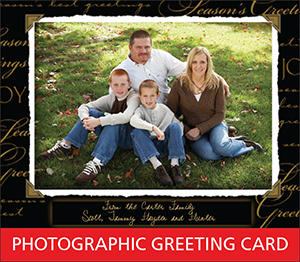 Photographic Greeting Card Sample Image