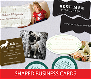 Shaped Business Card Sample Image