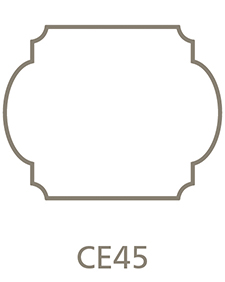 Shaped Metal Print Shape CE45