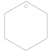 Shaped Metal Ornament Hexagon