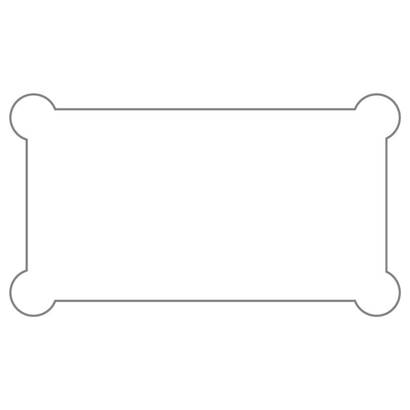 Rectangular Sticker Shape 19