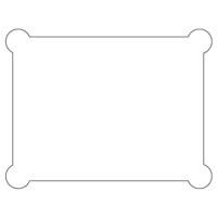 Rectangular Sticker Shape 19