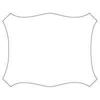 Rectangular Sticker Shape 23