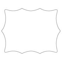 Rectangular Sticker Shape 26