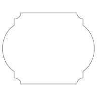 Rectangular Sticker Shape 29