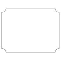 Rectangular Sticker Shape 30
