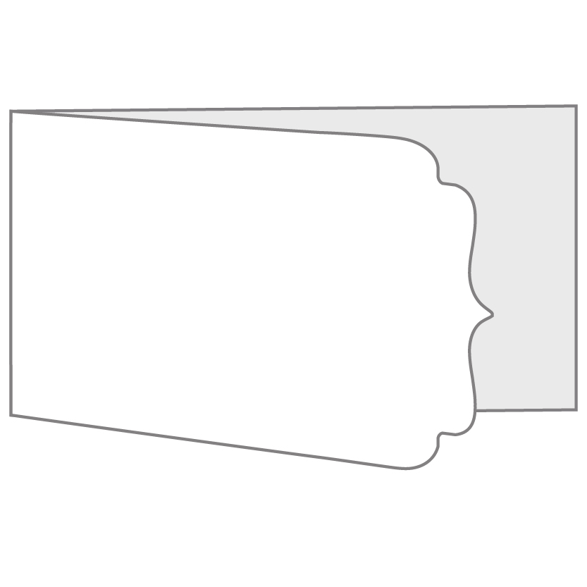 Wide Bi-Fold, Side Hinge Horizontal Card Layout