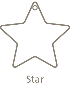 Shaped Metal Ornament Star