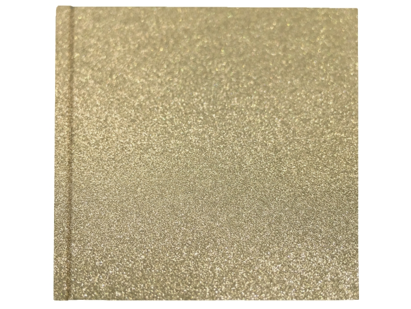 Bronze Sparkle Cover on Book