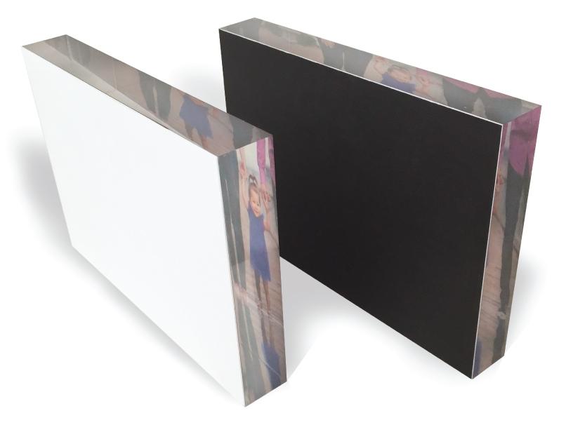 Acrylic Block With White or Black Backing