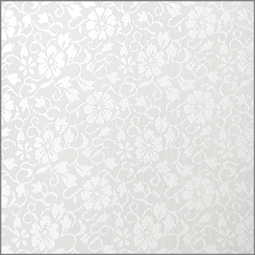 White on White Floral Premium Fabric Custom Box Cover
