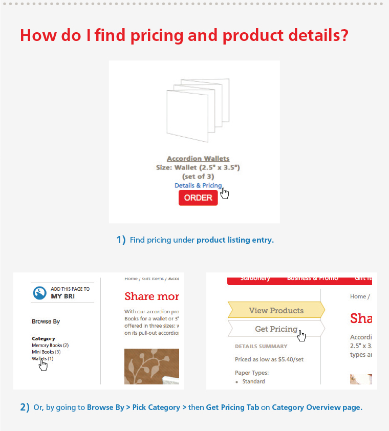 How do I find pricing and product deatils?