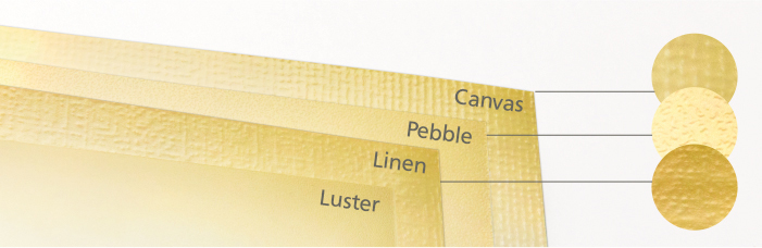 Luster Paper Texture Finish Linen Canvas Pebble Archival