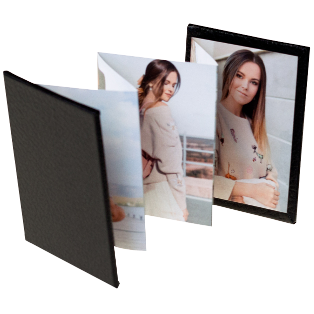 Thumbnail of Accordion Memory Book with a black faux leather cover