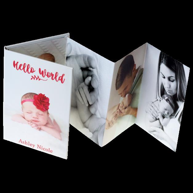 Baby Photos Printed on Accordion Mini Book