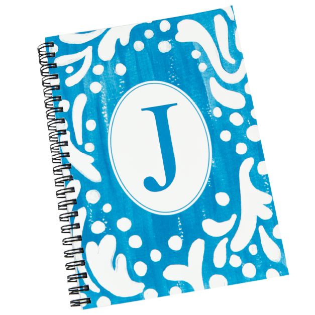 Blue J Initial Printed on Journals