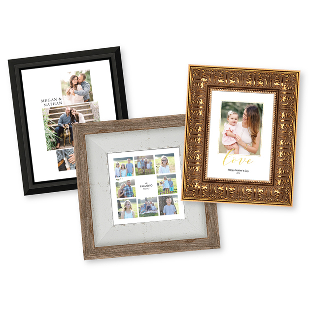 Engaged Couple, family & mother & daughter photos printed in Composite Prints & Mounted in Frames