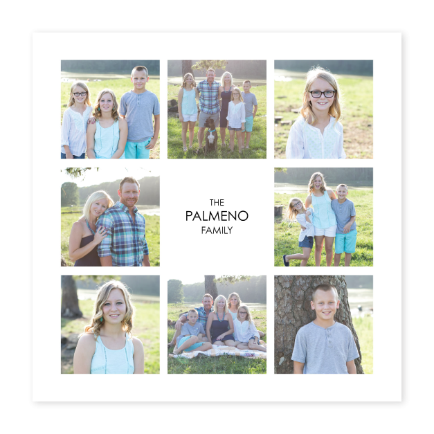 Family Photos with Custom Text Printed on Composite Photographic Print