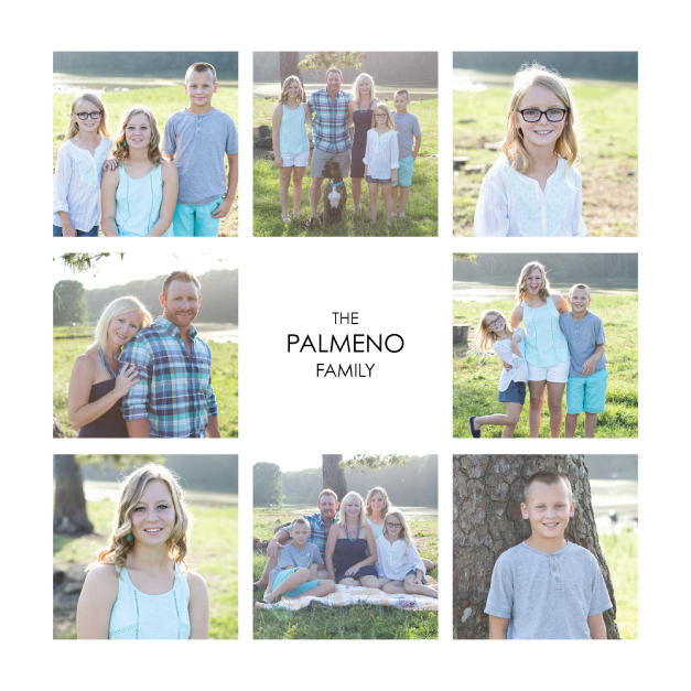 Thumbnail of Family Photos Printed on Composite Print with Custom Text
