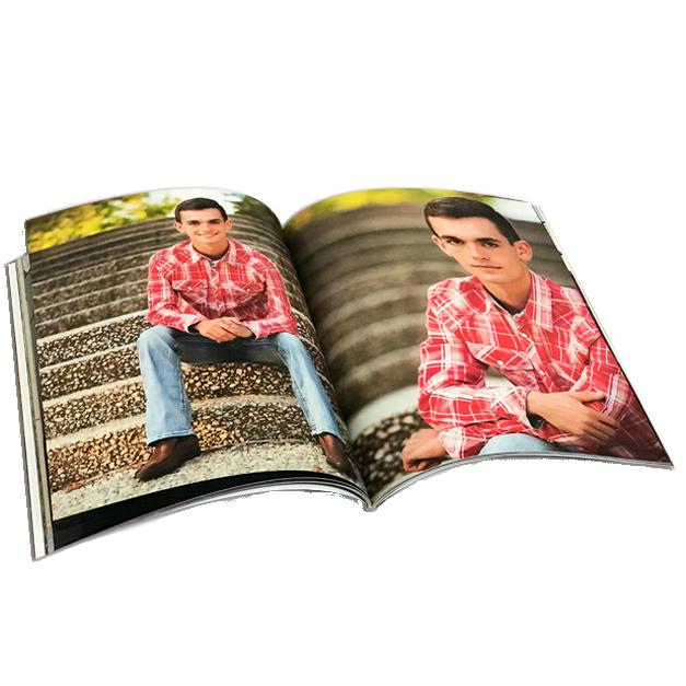Senior Boy Photos Printed in Custom Magazine