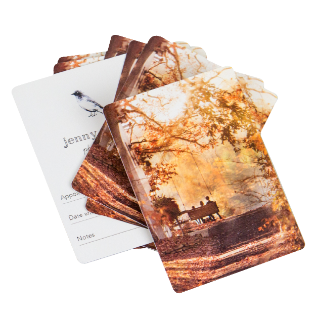 Fall Engagement Session Printed on Double Sided Wallets