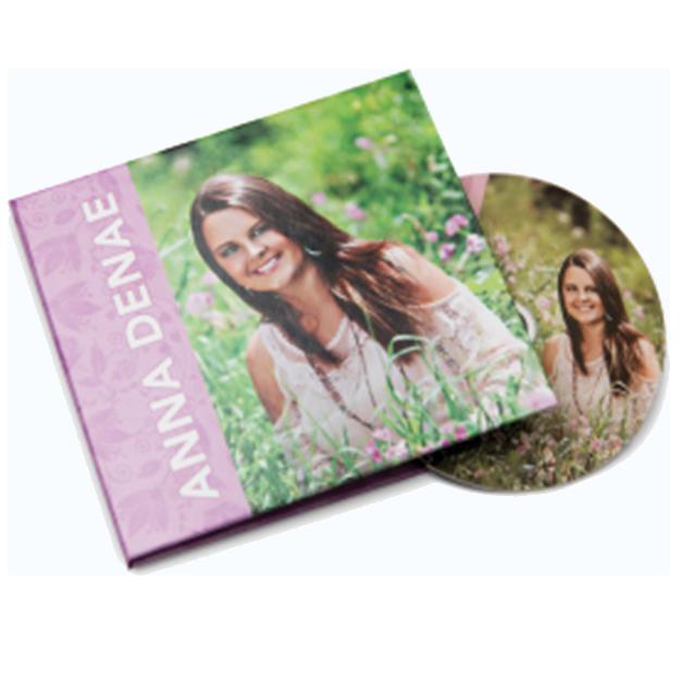 Senior Girl On Custom DVD Photo Cover Case & Printed DVD