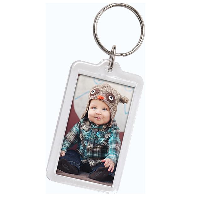Little Boy in Owl Hat Printed in Photo Key Chain