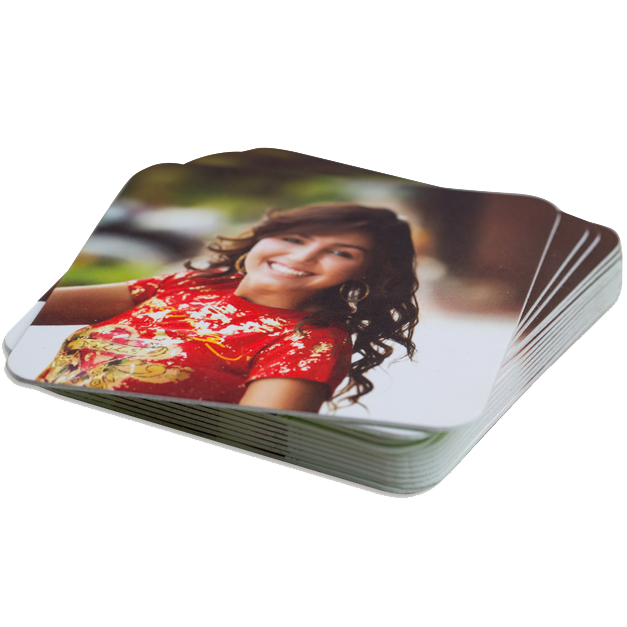 Senior Girl in Red Shirt Printed LOFT Extra Thick Coasters