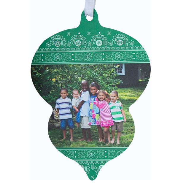 Children in Yard Printed on LOFT Ornament