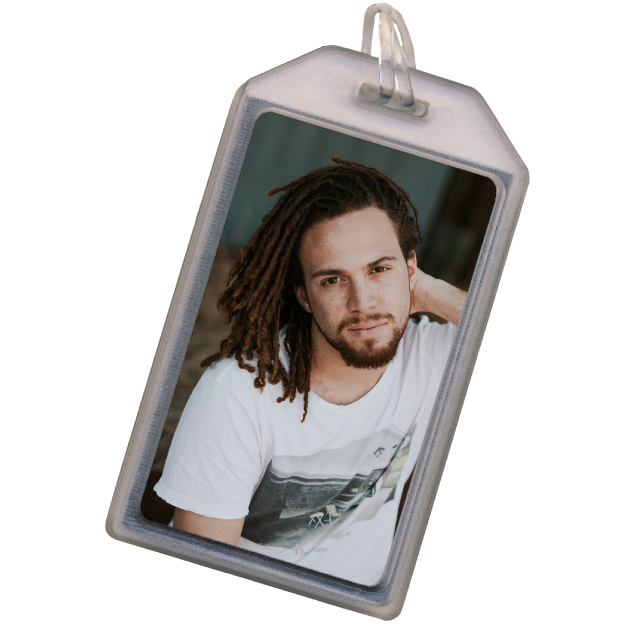 Wander with Compass Design Printed on Luggage Tags