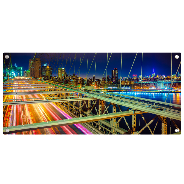 Cityscape from a Bridge Printed on Metal Prints
