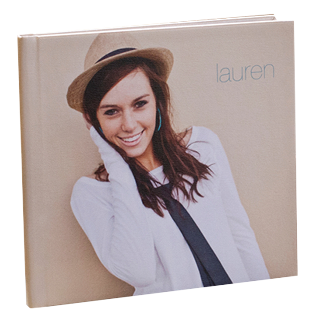 Senior Girl with Fedora on Photo Book Cover