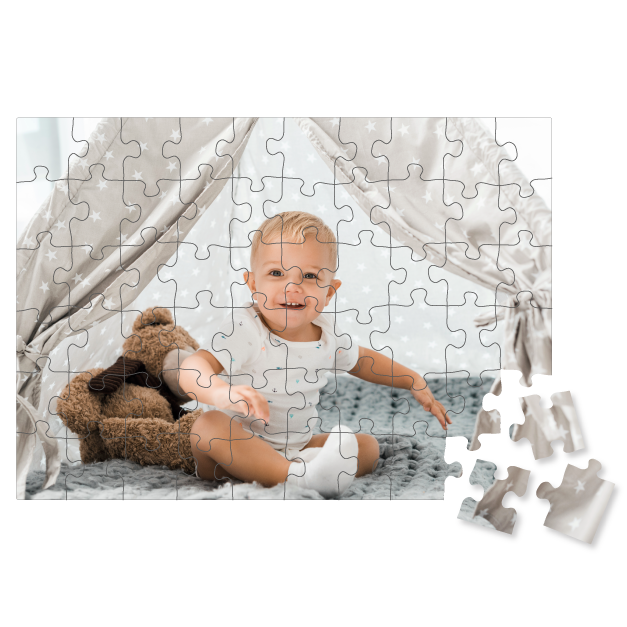 Customized Illustration of Frog Printed on Children's Puzzle