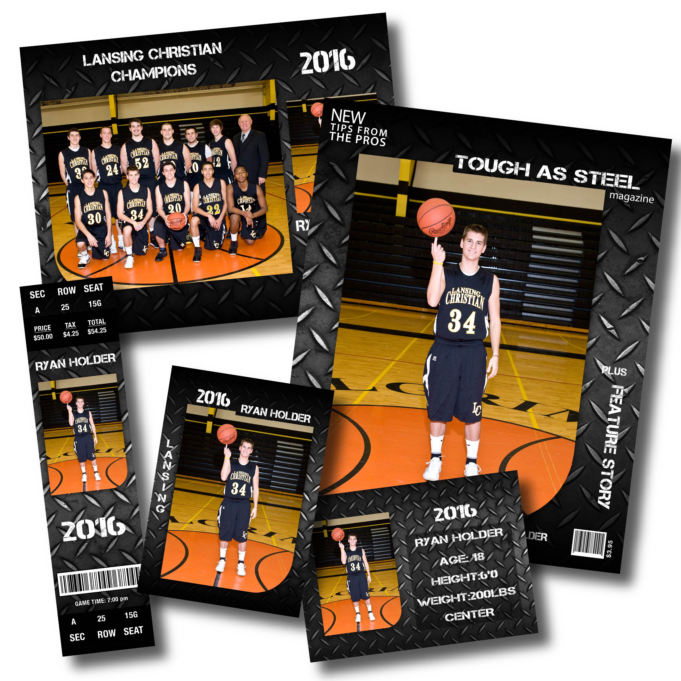 High Impact Sports Design with Basketball Team